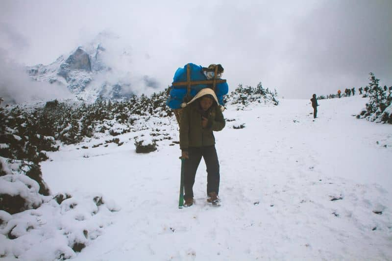 Sherpa-authentic person for trekking